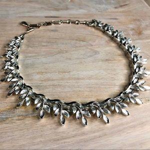 Vintage Signed Lisner Silver Tone Choker Necklace